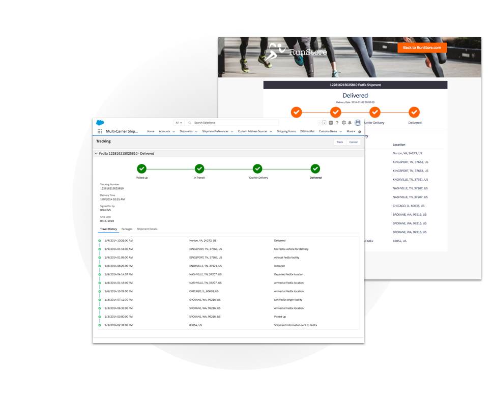Shipping App for Salesforce - FedEx, UPS, USPS and 40+ more